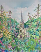 First St. Andrew's, image 14 x 14, framed 20x20